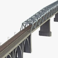 3d model railway bridge little belt