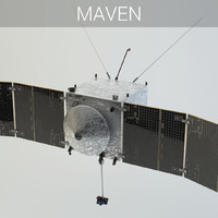 3d nasa spacecraft maven satellite