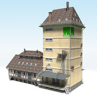 silo buildings cities 3ds