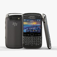 3d low-poly blackberry bold 9790 model