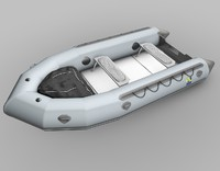 inflatable zodiac boat 3d 3ds