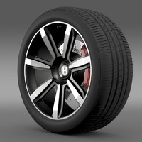 bentley continental gt wheel 3d 3ds