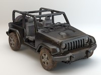 jeep wrangler studio lights 3d model