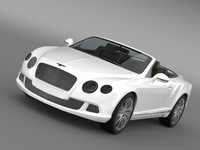 3d model bentley continental gtc 2011