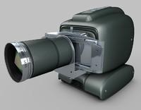3d model vintage projector