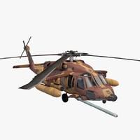 uh-60 helicopter idfaf blackhawk 3d c4d