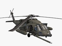 3d uh-60 helicopter blackhawk model