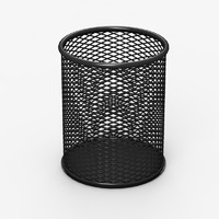 3d model pencil bin trash