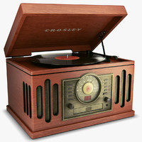 vintage record player 3d max
