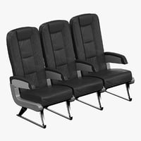 3d aircraft passenger seats model