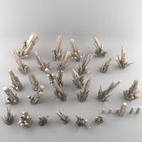 crystal mineral 3d model