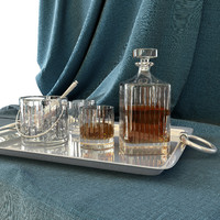 3d whiskey tray