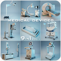medical devices 9 1 3d max