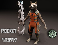 3d model of rocket guardian