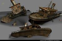 wreck ship 3d model