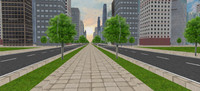3d model ready city