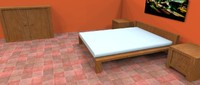 3d simply bedroom model