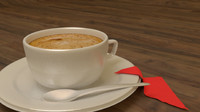 coffee cup 3d obj