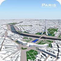 3dsmax paris cityscape