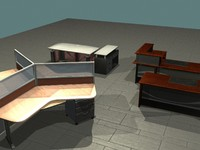 office tables 3d max