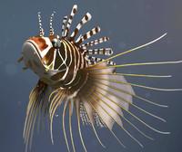 3d lionfish fish model
