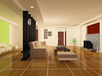 new house interior furniture c4d