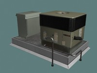 3d model hvac unit rooftops