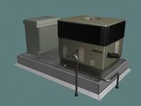 hvac unit rooftops 3d 3ds