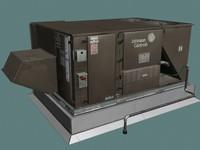 hvac unit rooftops 3d max