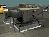hvac unit rooftops 3d model