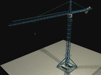 fully detailed Tower Crane ( w/ proper UV mapping)