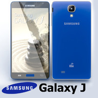3d model samsung galaxy j blue