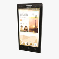 huawei ascend p7 mini 3d model