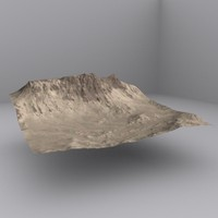 3d model desert mountain
