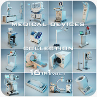 medical devices 16 1 3d model