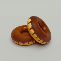 3d donut chocolate