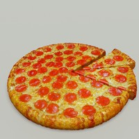 3d pizza food