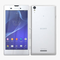 3d sony xperia t3 white model