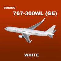maya boeing 767-300 white