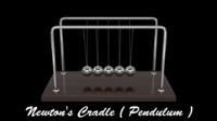 newton cradle 3d max