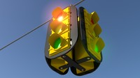 traffic lights obj