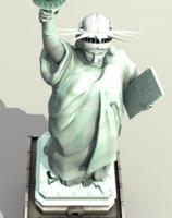 statue liberty 3d obj