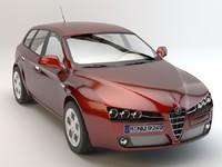 alfa romeo 159 studio 3d model