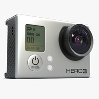 action camera gopro hero 3d model