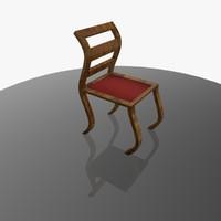 Wood-Fabric Curvy Chair