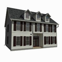 single family house 3d 3ds