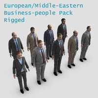 3d model european middle eastern