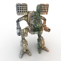 robot warrior mech 3d model