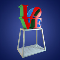 love sign philadelphia 3d model