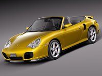 cabrio porsche turbo 3d 3ds